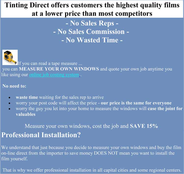 compare price of window film in Forest Lake