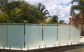 External frosted film on pool fence in Middle Park Brisbane