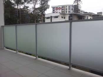 Frosted film installed on balustrade glass in Sydney